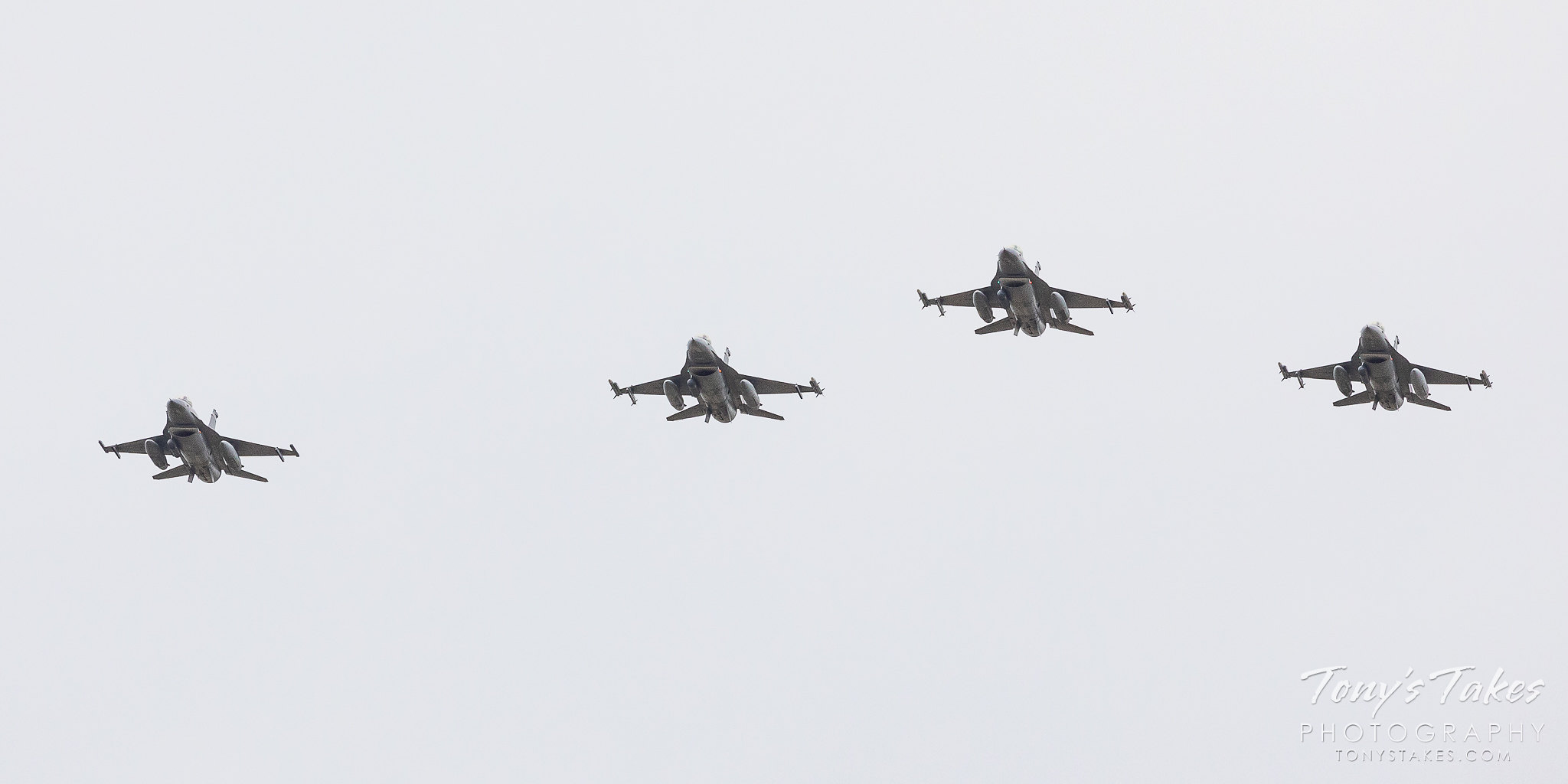 The Colorado National Guard performs a flyover to thank first responders. (© Tony's Takes)