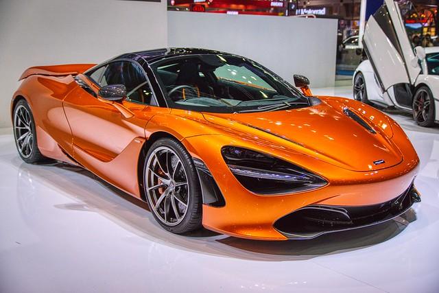 McLaren luxury sports car at the 38th Bangkok International Motorshow  at IMPACT Challenger hall in Muang Thong Thani, Nonthaburi, Thailand