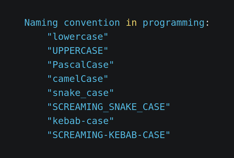 Naming convention in programming