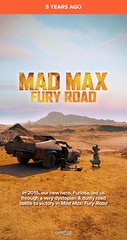 Mad Max: Fury Road (2015 Australian film) ??????? #timehop #abe #georgemiller #tomhardy #charlizetheron #warnerbrospictures #villageroadshowpictures #madmaxfuryroad #postapocalyptic #actionfilm