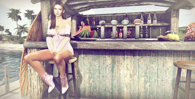 Au bar de la plage....