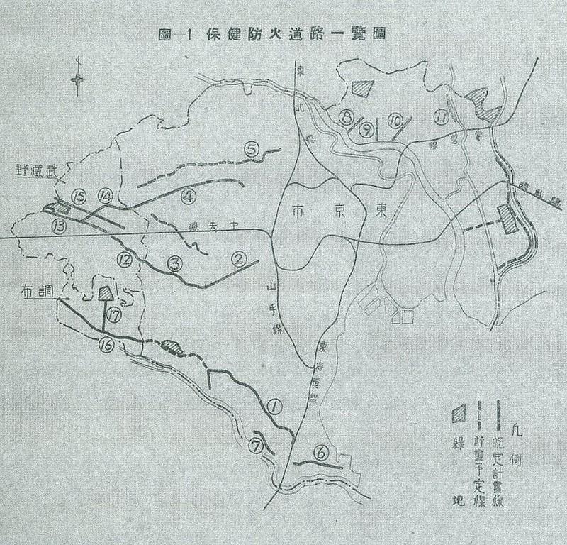 防火保健道路位置図