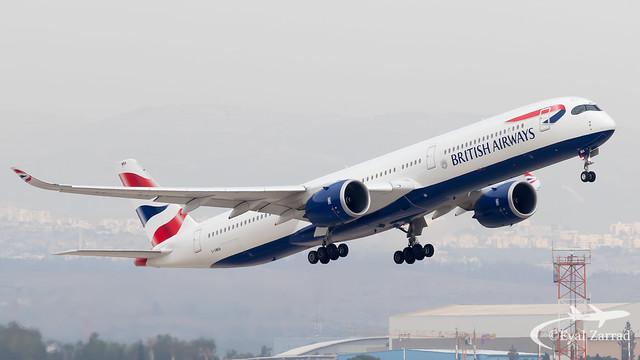 TLV- British Airways A350-1000 G-XWBA