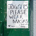 Joggers Please Wear Masks