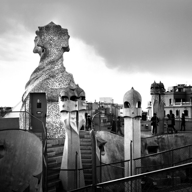 On the roof of the Casa Mila