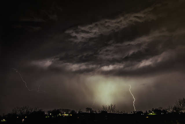 Storm Clouds Lit Up by Lightning