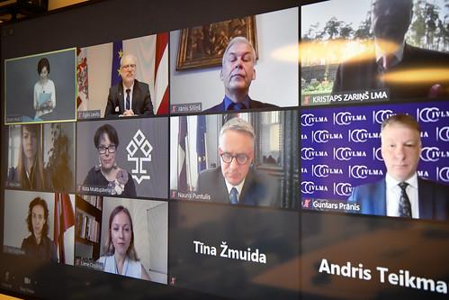 15.05.2020. Valsts prezidents Egils Levits piedalās Latvijas Kultūras akadēmijas 30. jubilejas svinīgajā sēdē