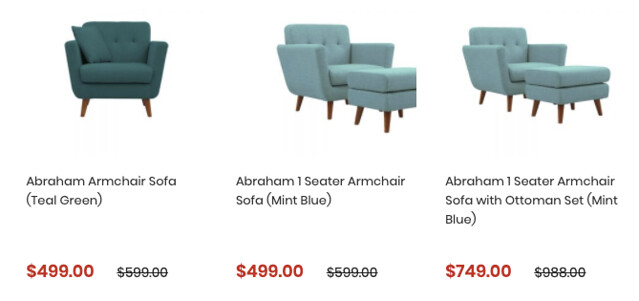 born in colour armchairs and ottomans