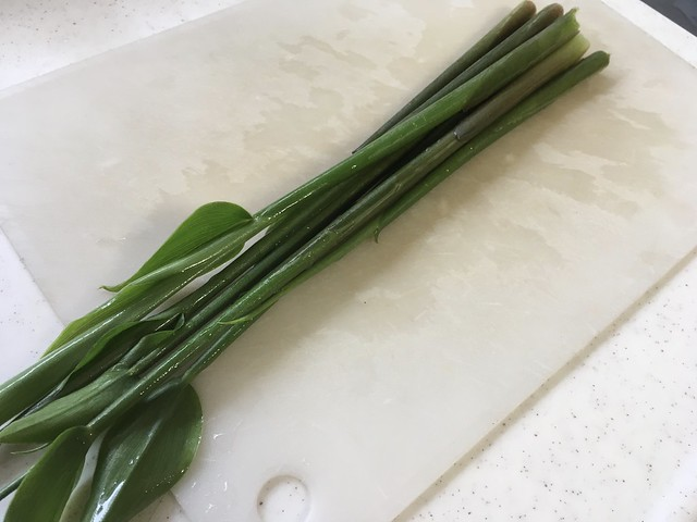 茗荷の新芽と溶き卵の北海道ラーメン