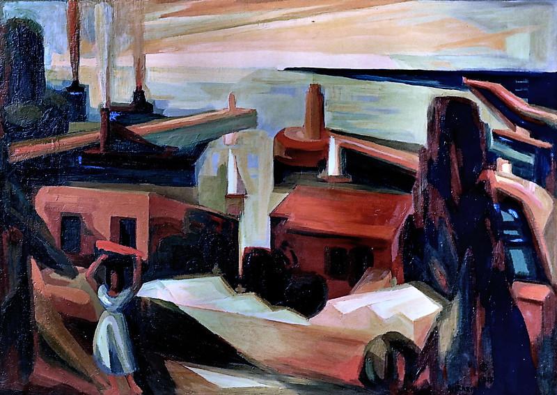 IMG_6669 Colette Richarme. 1904-1991. Montpellier.   Le Phare. Lighthouse  1957.   Sète Musée Paul Valéry.