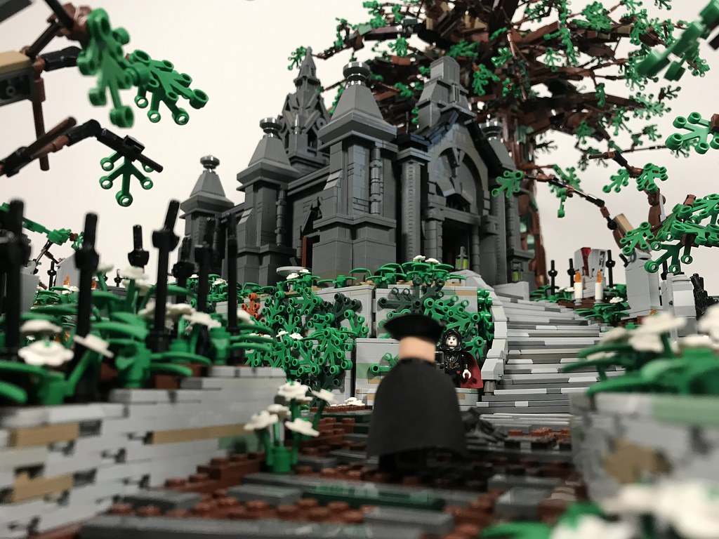 Bloodborne hunters dream LEGO moc close ups. This build took about a year to make and was my first display at cbs. The build was inspired by the amazing video game Bloodborne which holds a very special place in my heart.