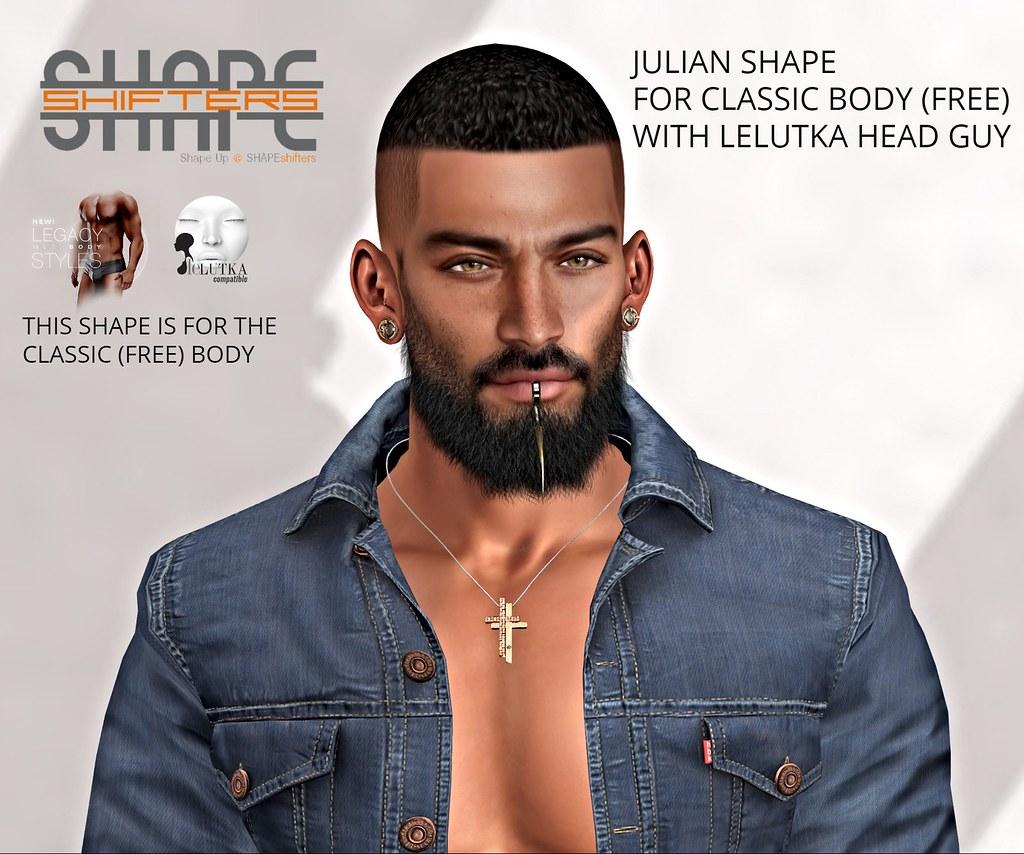 [SHAPEshifters] JULIAN SHAPE FOR CLASSIC BODY(FREE) & LELUTKA GUY HEAD