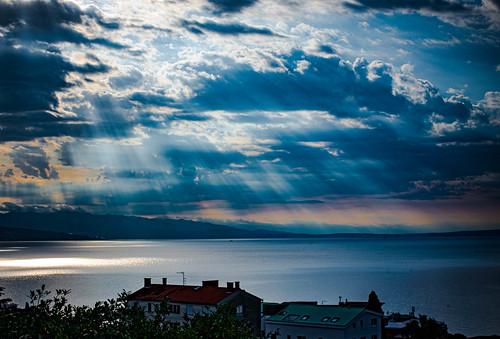 adriatic sea view opatija croatia abbazia clouds rain krk renate