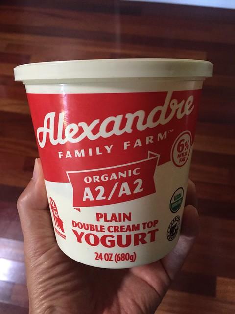 Alexandre Family Farm - Organic A2/A2 Plain Double Cream Top Yogurt