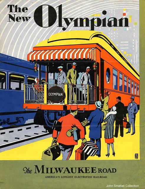 Milwaukee Road New Olympian brochure 1930