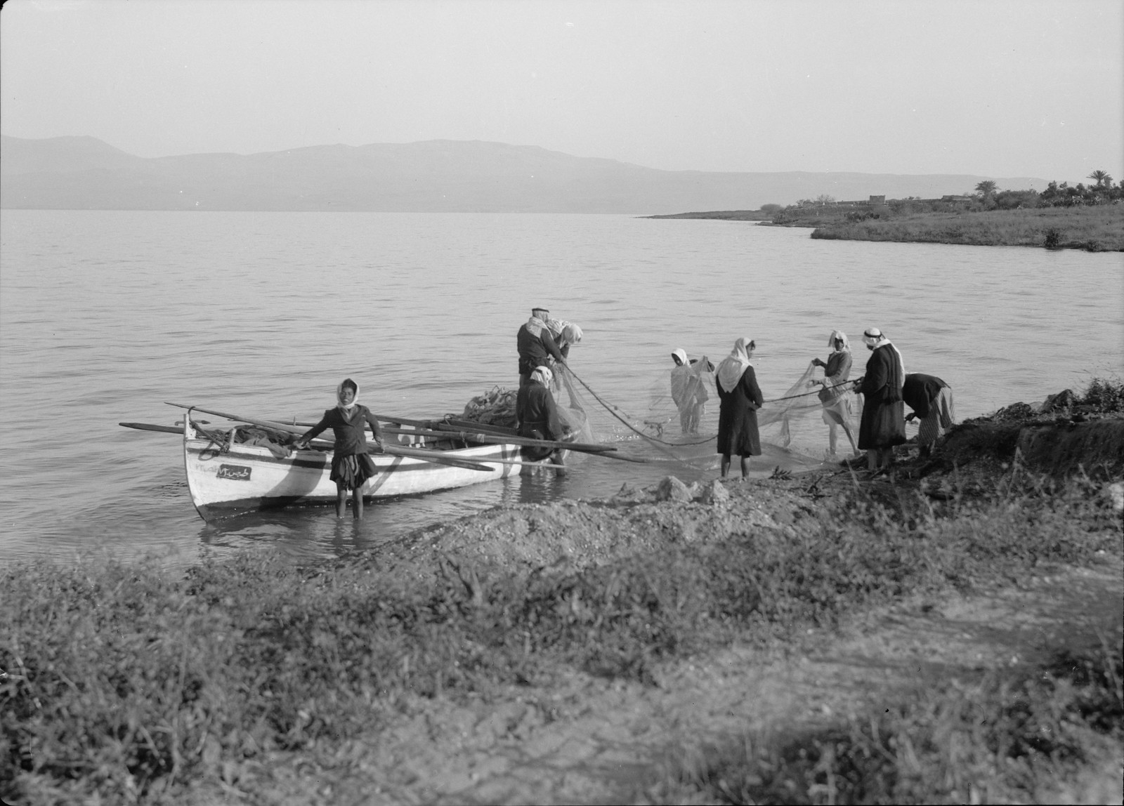 15. Арабские рыбаки на восточной стороне Кинерета