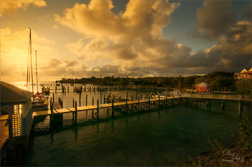 Sunset image from Spanish Cay in the Bahamas