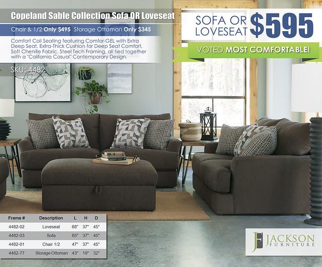 Copeland Sable Sofa OR Loveseat by Jackson Furniture wRibbon_4482_new