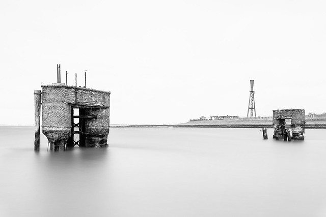 old ferry terminal at the North Sea