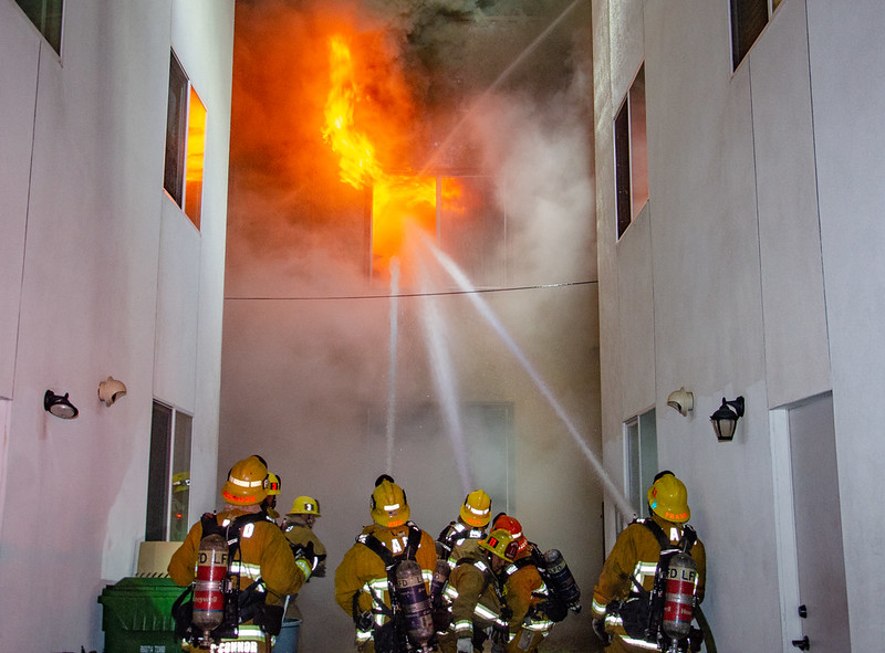 Los Angeles Apartment Fire Results in Partial Collapse