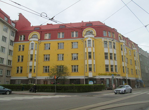 Yellow Art Nouveau Building, Helsinki