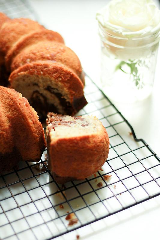 MOCHA - WALNUT MARBLED BUNDT CAKE