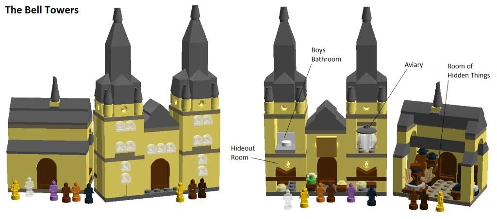 LEGO Hogwarts Bell Towers