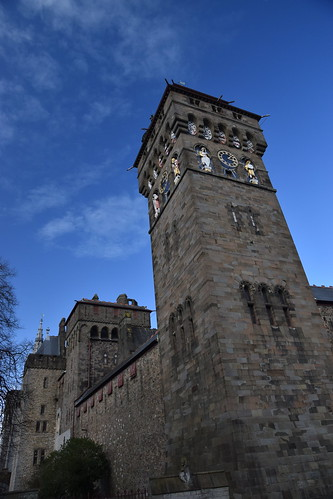 The Clock Tower of Cardiff Castle