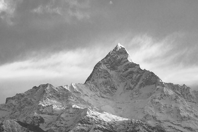 Machapuchare in Black & White
