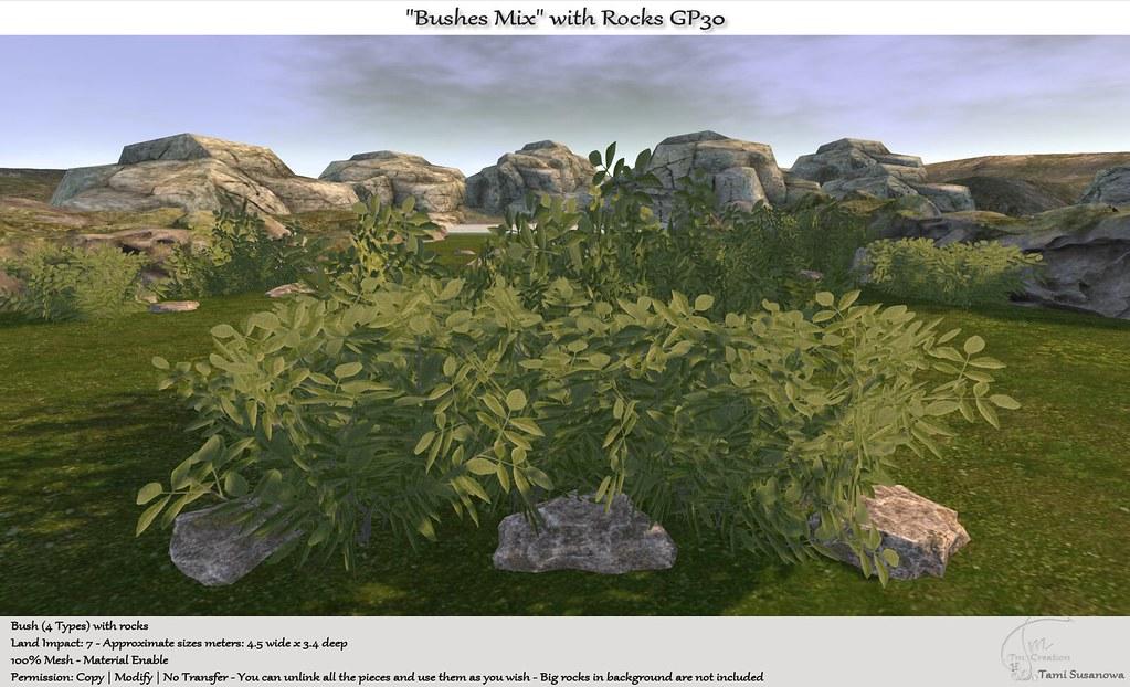 ".:Tm:.Creation ""Bushes Mix"" with Rocks GP30"