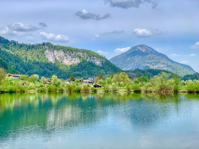 Lake Kreutsee near Ried in Bavaria, Germany