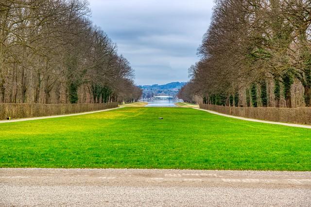 Herreninsel island in lake Chiemsee in Bavaria, Germany