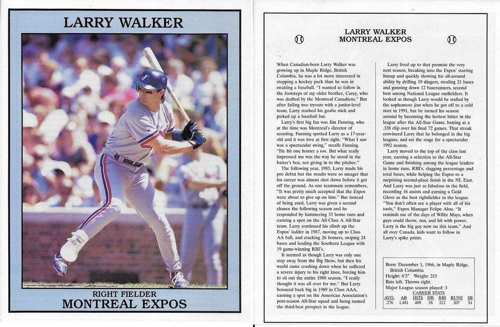 1993 East End Pub Poster Larry Walker