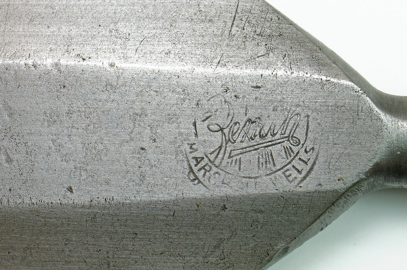 RD27962 Rare Antique Marshall Wells Hardware Zenith Crescent Shining Star Chisel DSC04614