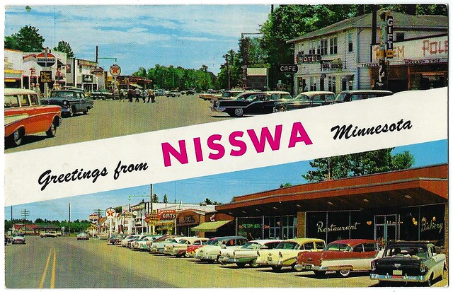 Greetings from Nisswa Minnesota.