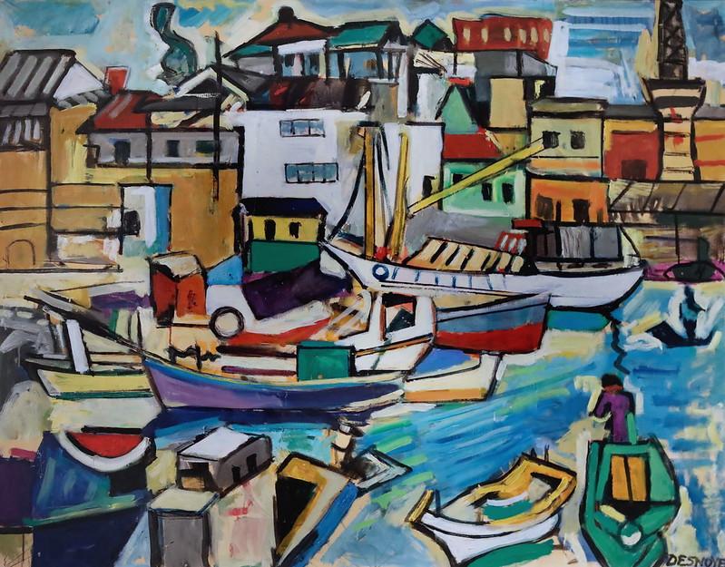 IMG_6688 François Desnoyer. 1894-1972.   Le port de Beppu. 1968.   Sète Musée Paul Valéry.
