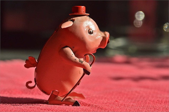 Vintage Pig Wind-up Toy