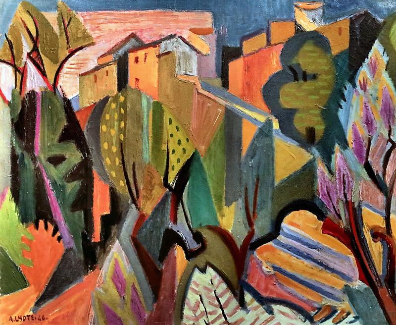 IMG_6685 André Lhote. 1885-1962. Paris.  Route montant à Gordes.  Road going up to Gordes 1946.  Sète Musée Paul Valéry.
