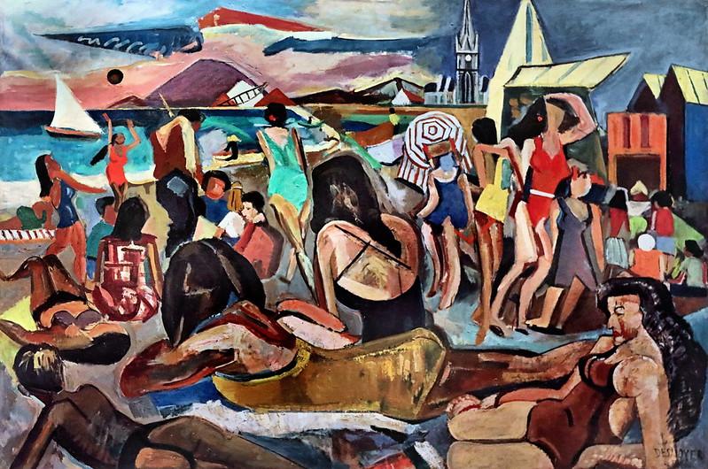IMG_6681 François Desnoyer. 1894-1972.   La grande plage de la corniche à Sète. 1947.   Sète Musée Paul Valéry.