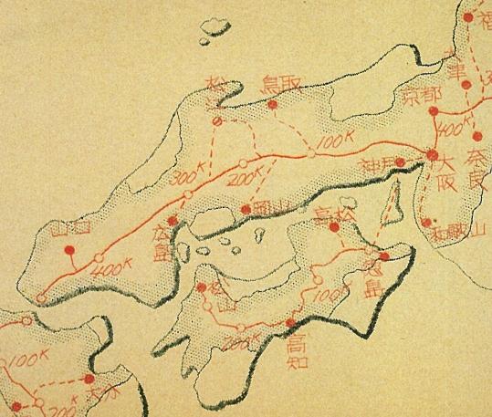 中国自動車道と四国自動車道