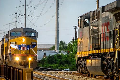 kcs unionpacific railroad train eureka houston texas