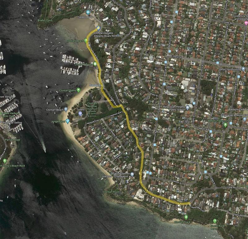 Clontarf walk map