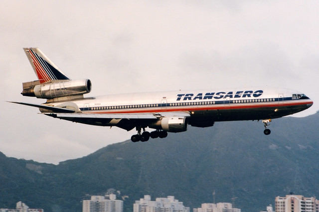 Transaero   McDonnell Douglas DC-10-30   N141AA   Hong Kong Kai Tak