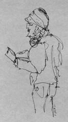 Portrait de poète en extérieur pendant le déconfinement