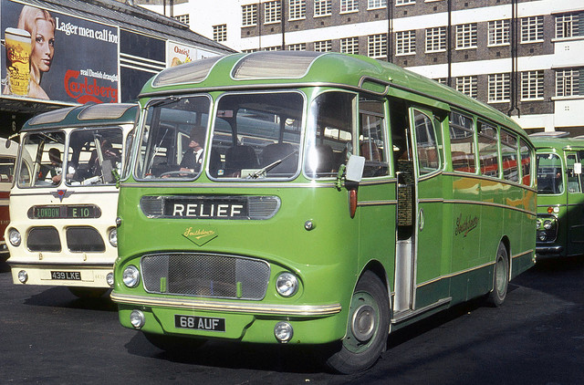 Southdown Motor Services . 68 68AUF . Victoria Coach Station , London . Monday 26th-May-1970 .