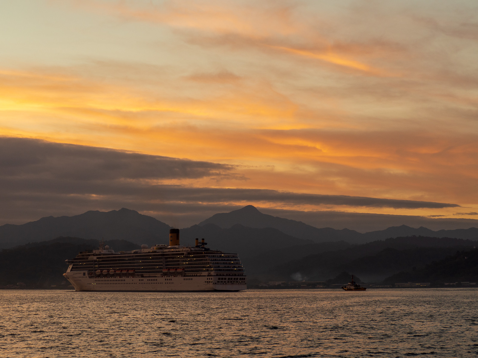 Cruise ship passing in Subic