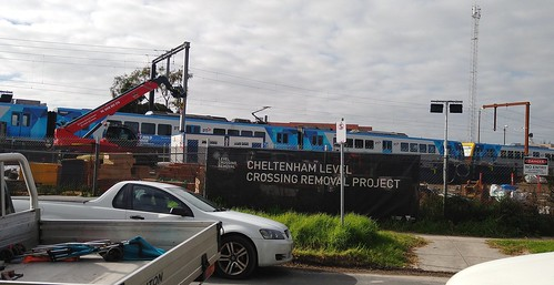 Cheltenham level crossing removal works