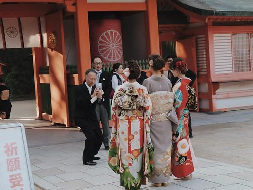 Sumo Statue at Sumiyoshi Shrine
