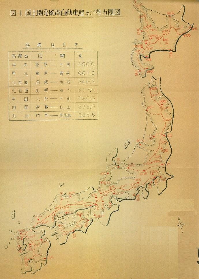 国土開発縦貫自動車道ネットワーク (1)