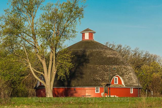 Ryan's Round Barn in Johnson-Sauk Trail State Recreation Area